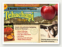 Tehachapi Lifestyle Magazine Sign-up page
